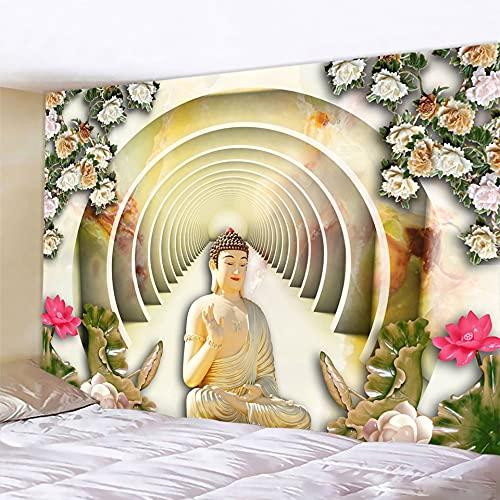 PPOU India Buda meditación Chakra Tapiz de Pared Mandala Pared Hippie brujería hogar Arte Manta Tela Colgante A7 100x150cm