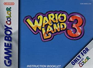 Wario Land 3 GBC Instruction Booklet (Nintendo Gameboy Color Manual ONLY - NO GAME) Pamphlet - NO GAME INCLUDED