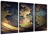 Dream-Arts Game of Thrones Motiv, 3-teilig auf Leinwand