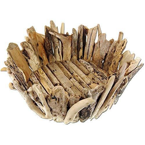 *SEESTERN Treibholz Deko Korb Fruechtekorb Holz Driftwood Holzdeko /1845*