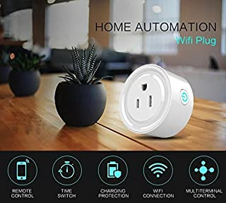 Smart Mini Wi-Fi Socket, Compatible with Alexa & Google Home, Timer Switches Socket (White)