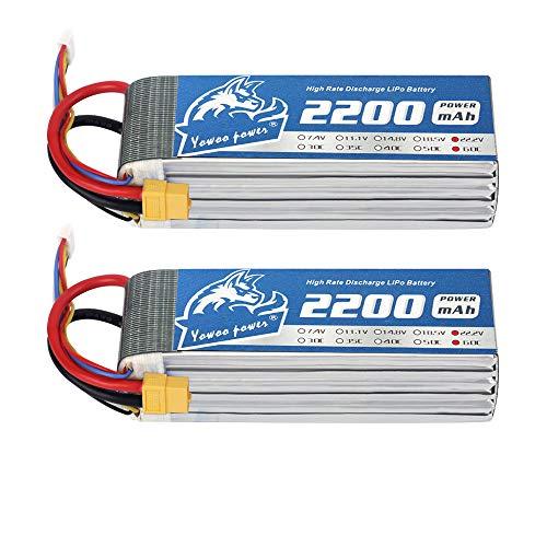4S 14.8V 1800mAh 70C XT60 Lipo Bater/ía para Emax Nighthawk 250 FPV Racing Drone RC Coche Barco helic/óptero GoolRC