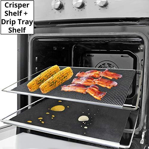 Spares2go Lot de 2 plateaux de cuisson extensible et réglable pour plaque de cuisson Teka 320 x 430 à 630 mm