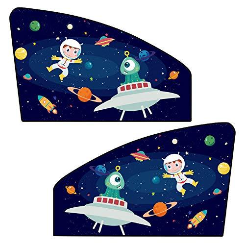 2 PCS Universel Magnétique De Voiture Côté Latéral Fenêtre Pare-Soleil Pare-Soleil Protecteurs pour Enfants Enfants Bébé Animaux Espace