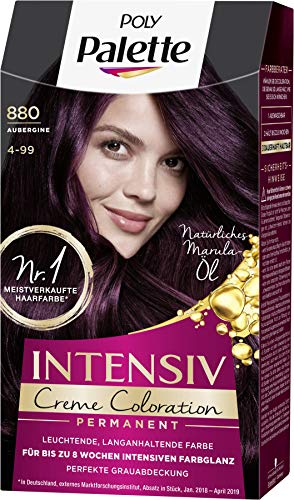 SCHWARZKOPF POLY PALETTE Intensiv Creme Coloration 880/4-99 Aubergine, 3er Pack (3 x 128 ml)