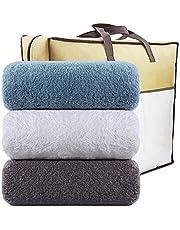 LEEPWEI タオル 綿100% 人気 柔らか肌觸り ふんわり 瞬間吸水 速乾 抗菌防臭 家庭用、ホテル、スポーツなどに最適