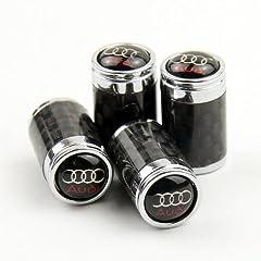 high Quality Carbon Fiber Car Air Tire Valve Caps for Audi