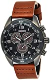 Citizen Men's Drive Stainless Steel Quartz Leather Calfskin Strap, Brown, 22 Casual Watch (Model: AT2447-01E)