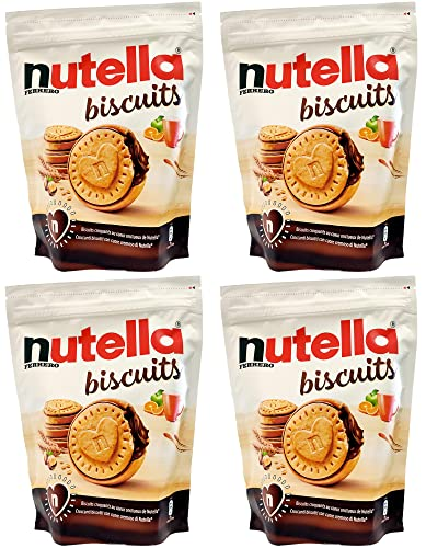 4 GALLETAS DE NUTELLA DE 304 GR - UN CORAZÓN GRANDE LA GALLETA CON CORAZÓN DE NUTELLA