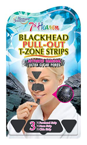 7th Heaven Tiras de carbón activado para mujer, para poros ultra transparentes, contiene 1 tira de frente, 1 tira de nariz y 1 tira de barbilla, 0,021 kg.