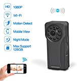 Wifi Hidden Spy Camera, Ruidla Mini Body Camera 1080P HD Monitoring Motion Detection Night Vision For Home Security Nanny Baby Pets, Suit For Outdoor Recording With Clip Design