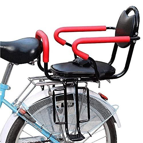 Soporte Trasero para Asiento de Bicicleta para Niños, con Reposabrazos Pedales Cinturón de Seguridad Asientos de Seguridad para Bebés Y Niños Impermeable Y Resistente Al Desgaste