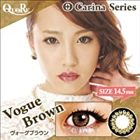 カラコン 度なし 1箱2枚入り QuoRe Carina Series/ソブレ/119224 14.5mm【VogueBrown--0.00】
