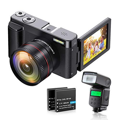 ZORNIK Cámara Digital 1080P, Cámara de Vídeo Ultra HD de 44 MP, con Lente de Gran Angular Ultra Alta Definición 16X Zoom Digital