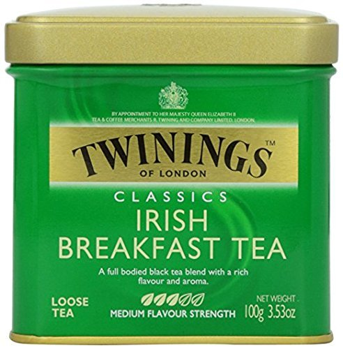 Twinings of London Irish Breakfast Loose Tea Tin, 3.53 Ounces