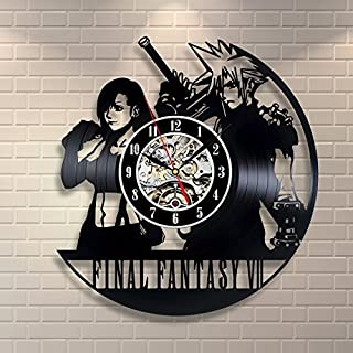 Final Fantasy VII Vinyl Record Clock Home Decor Art by Vinyl Evolution