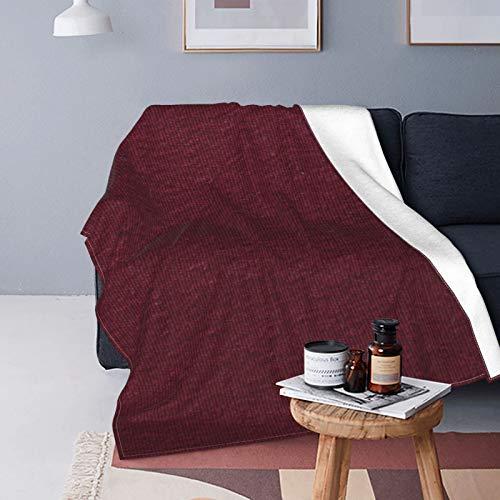 Manta de Forro Polar Granate de imitación Natural de Piel Coloreada Micro Ultra Suave para sofá o Cama Manta cálida para Todas Las Estaciones Manta de sofá