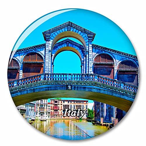 Italia Rimini Pequeña Venecia Imán de Nevera, imánes Decorativo, abridor de Botellas, Ciudad turística, Viaje, colección de Recuerdos, Regalo, Pegatina Fuerte para Nevera