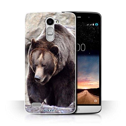 Hülle Für LG Ray/X190 Wilde Tiere Bär Design Transparent Ultra Dünn Klar Hart Schutz Handyhülle Hülle