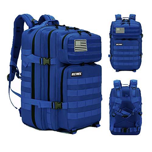 Elitex Mochila 25L Tactica Militar Color Azul Bandera USA Impermeable para Deporte, Gimnasio, Aire Libre Oxford 900D