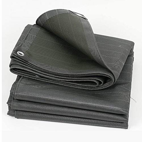 ALGFree Canvas Tarpaulin Industry Waterproof Mats Awning Cloth Dust-proof Anti-cold Heat-resistant, Size Customizable (Color : Gray, Size : 1.5x2m)