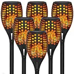 6-Pack Solar Torch Lights with Flickering Flames for Christmas Decorations Outdoors Garden Path Light Solar-powered Wireless Pathway Lights, Waterproof Landscape Lighting for Yard, Patio, Lawn, Porch