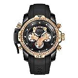 BREAK Reloj Deportivo de Gran Rostro para Hombres, Fecha Luminosa Relojes Multifuncionales Diseño Exclusivo Reloj de Pulsera Mujer de Primera Calidad al Aire Libre (Oro Rosa)