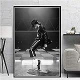 JWJQTLD Leinwanddruck,Michael Jackson Musiker King Star