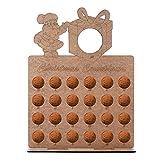 WZhen Calendario de Adviento de madera, árbol de Navidad, 24 bombones, soporte para decoración del hogar