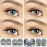 Soft Eye Combo Pack of 4 Pairs of Monthly Color Contact Lenses