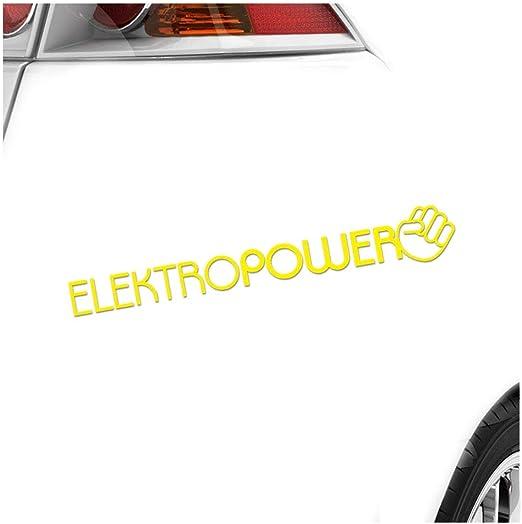 Kiwistar Elektropower 10 X 10 Cm In 15 Farben Neon Chrom Sticker Aufkleber Auto