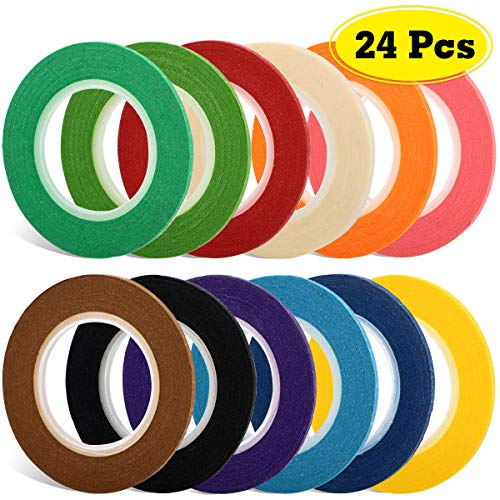 JPSOR 1/8 Inches Thin Tape, Whiteboard Gridding Tape, Violin Tape, Dry Erase Graphic Art Tape, Grid Marking Tape, Masking Tape, 12 Colors