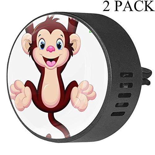 Monos graciosos Clip ventilación difusor vidrio coche