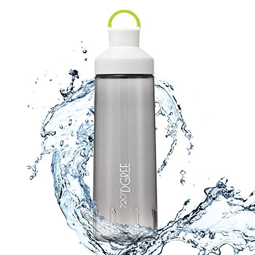 """Trinkflasche \""""twinBottle\"""" – 700ml - Tritan Wasserflasche mit 2-Wege-Öffnung - Auslaufsichere Sportflasche - BPA Frei - Perfekt für Sport, Outdoor, Schule - Einfaches Befüllen & Reinigen Dank Weithals"""