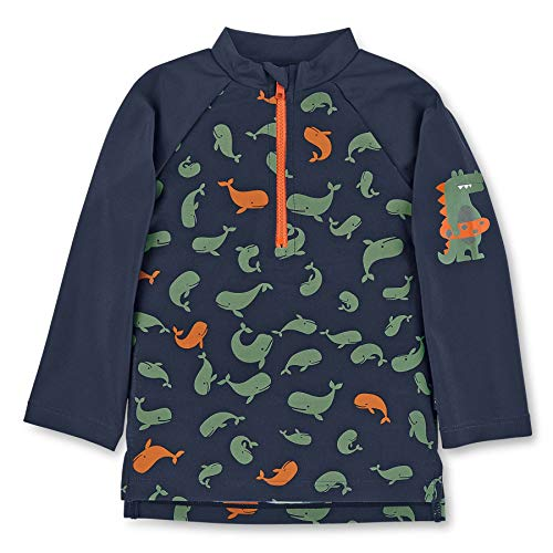 Sterntaler Jungen Langarm-Schwimmshirt, UV-Schutz 50+, Alter: 4-6 Jahre, Größe: 110/116, Farbe: Marine