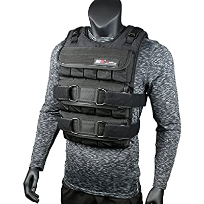 miR PRO Weighted Vest with Zipper Option 45lbs - 90lbs (45LBS, Standard)