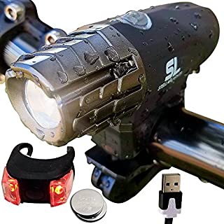 Bright Eyes - Piranha 300 - USB Rechargeable Waterproof Front LED Bike Headlight with Free Tail Light - Super Bright with 360 Degree Rotating Quick Release
