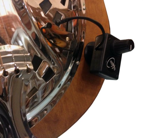 Dobro Square Neck Resonator Guitar Pickup with Flexible Micro-Gooseneck by Myers Pickups