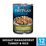 Purina Pro Plan Low Fat, Weight Management Gravy Wet Dog Food, FOCUS Weight Management Turkey & Rice Entree -...