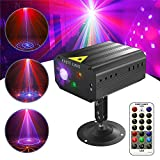 Disco Lights, Gvoo Sound Activated Party Light LED Stage Projector 6 Colours 24