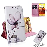 GGQQ YDYX AYDD Abricot Flower Motif Coloré Dessin Horizontal Flip Cuir Case pour Nokia 8.1 / X7,...