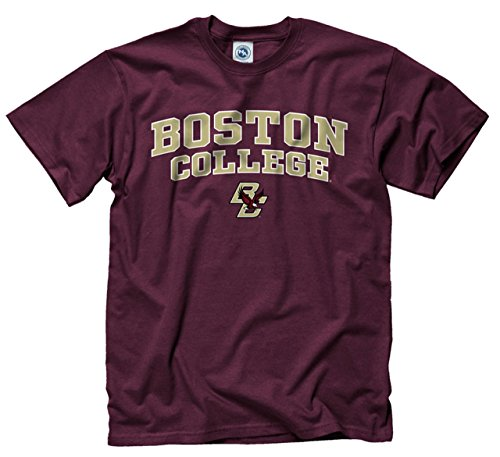 Campus Colors Boston College Eagles Adult Arch & Logo Game Day T-Shirt - Maroon, Small