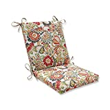 Pillow Perfect Outdoor/Indoor Zoe Citrus Square Corner Chair Cushion, 36.5' x 18', Green