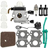 Kuupo FS55R Carburetor for STIHL FS38 FS45 FS46 FS55 KM55 HL45 FS45L FS45C FS46C FS55C FS 55R FS55RC ZAMA C1Q-S97 Carb with Air Filter Fuel Line Kit