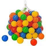 LittleTom 120 Bolas de Colores Ø 5,5cm para llenar Piscinas para niños plástico