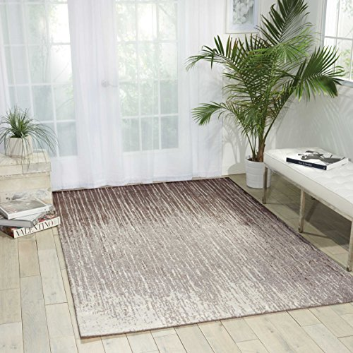 Nourison Twilight (TWI14) Smoke Rectangle Area Rug, 8-Feet 6-Inches by 11-Feet 6-Inches (8'6