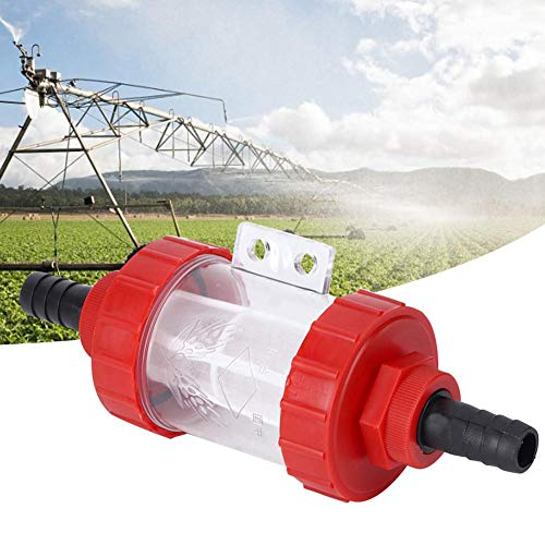 Duokon Wasserpumpenfilter, Landwirtschaftlicher Inline-Maschenfilter Hoher Durchfluss Wasserpumpe Transparenter Filter für Gartenwasserpumpe(G3 / 4in)