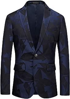 Men's Dress Floral Blazer Suit Slim Fit Two Button Notched Lapel Elegant Prom Party Tuxedo Suit Jacket