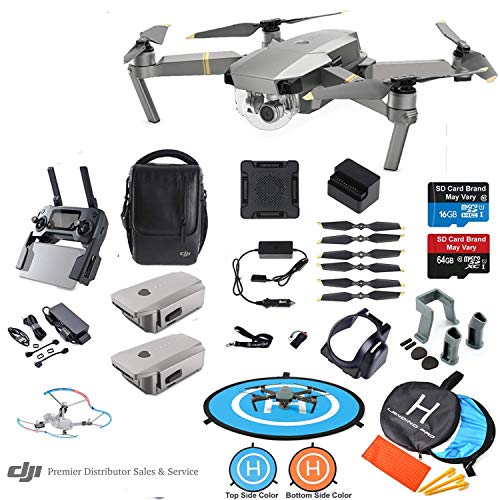 DJI Mavic PRO Platinum Drone Quadcopter Fly More Combo with 3 Batteries, 4K Professional Camera...