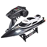 Tounlinx RC Boats Electronic Remote Control Boat High Speed(21.7MPH+) Lakes Pool Race Toys for Adults & Kids Gifts for Boys Girls